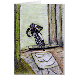 Cartão Bmx do mtb de Llandegla do Mountain bike