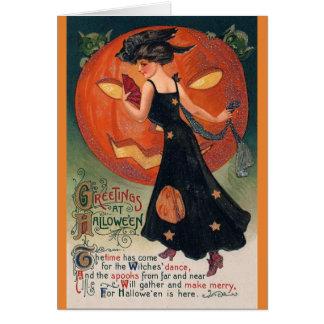 Cartão Boa bruxa ou bruxa do mau? ,