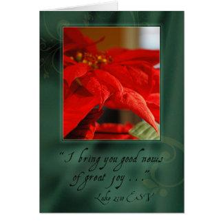 Cartão Boa notícia do Natal