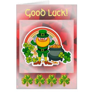 Cartão Boa sorte!