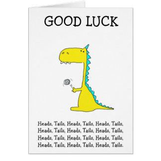Cartão boa sorte Dino