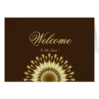 Cartão Boa vinda à flor da margarida da equipe