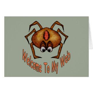 Cartão Boa vinda a minha Web