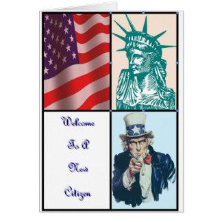 Cartão Boa vinda a um cidadão novo