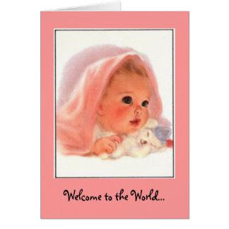 Cartão Boa vinda ao bebé bonito do mundo…