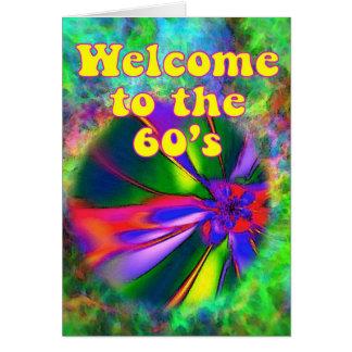 Cartão Boa vinda aos anos 60