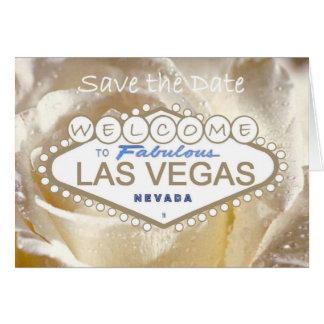 Cartão Boa vinda às economias fabulosas de Las Vegas o