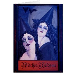 Cartão Boa vinda das bruxas
