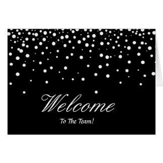 Cartão Boa vinda elegante dos Sparkles dos confetes da