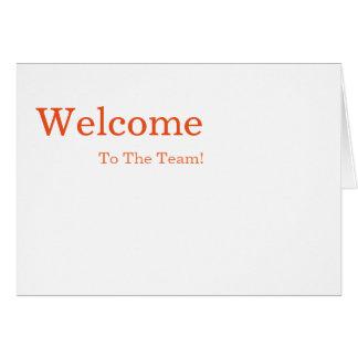 Cartão Boa vinda elegante simples personalizada