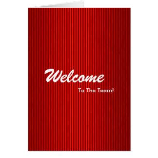 Cartão Boa vinda nova do empregado