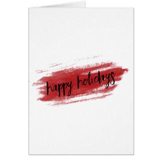Cartão Boas festas (cartão de Natal da listra da pintura)