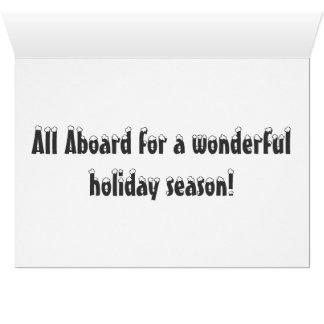 Cartão Boas festas com o polar expresse