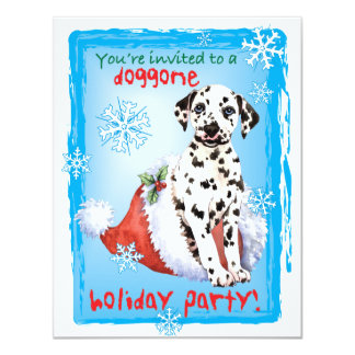 Cartão Boas festas Dalmatian