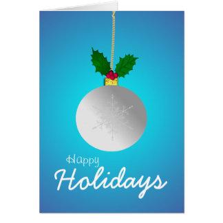Cartão Boas festas, deixe-o nevar