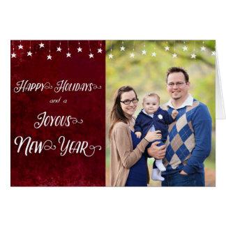 Cartão Boas festas/foto feliz do ano novo