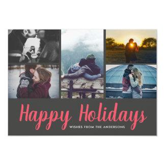 Cartão Boas festas foto ocasional do feriado cinco do
