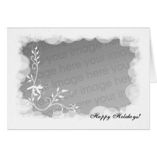 Cartão Boas festas molde da foto
