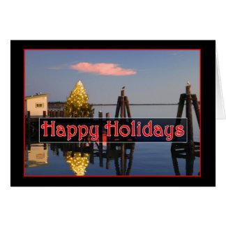 Cartão Boas festas na baía