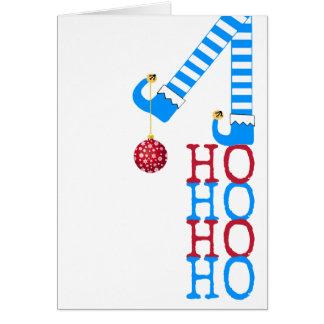 Cartão Boas festas Natal engraçado da foto do duende Ho