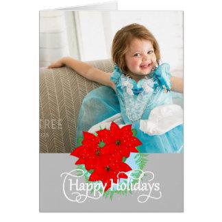 Cartão Boas festas o Natal floresce a foto editável