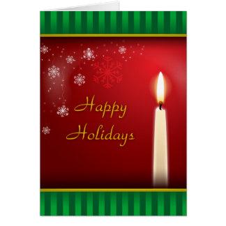 Cartão Boas festas pela luz da vela