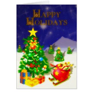 Cartão Boas festas três