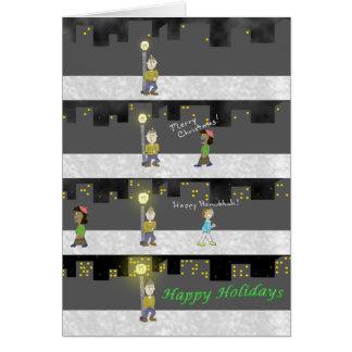 Cartão Boas festas - vazio para dentro