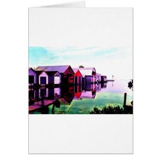 Cartão Boathouses de Rowan do porto