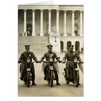 Cartão Bobinas de motocicleta do 1920 do vintage