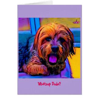 Cartão Boca de fala Yorkie do cão lunático de Artzy