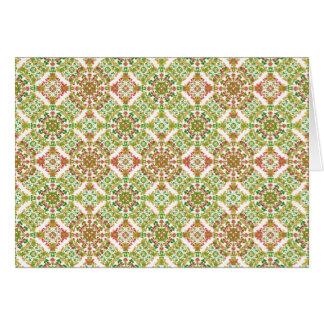 Cartão Boho floral estilizado colorido