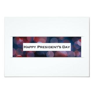 Cartão Bokeh do Dia do presidente feliz