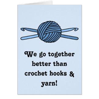 Cartão Bola azul dos ganchos do fio & de Crochet (parte