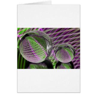 Cartão Bola de cristal no plástico