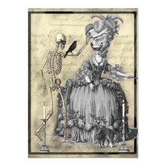 Cartão Bola de mascarada do Dia das Bruxas