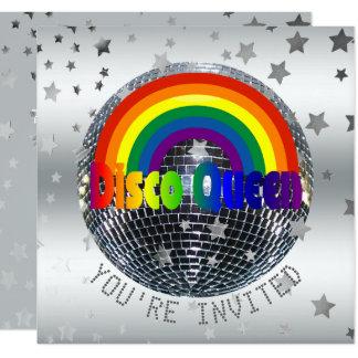 Cartão Bola do disco 70s da festa de aniversário | da