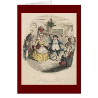 Cartão Bola do Natal de Fezziwig velho, uma canção de
