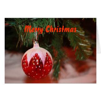 Cartão Bola do Natal, Feliz Natal