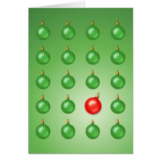 Cartão Bola impar vermelha