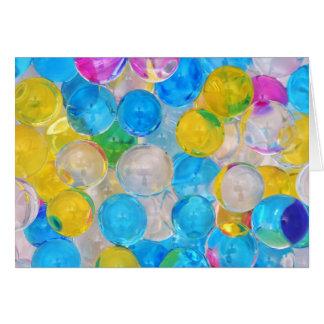 Cartão bolas da água