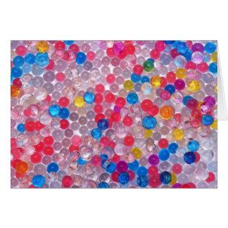Cartão bolas da água do colore