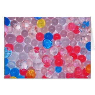 Cartão bolas da geléia