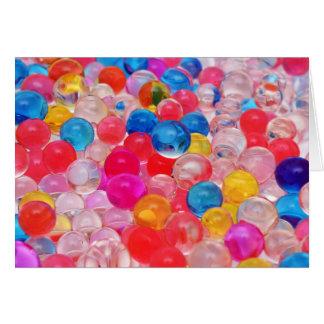 Cartão bolas da geléia da textura