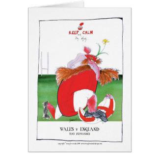 Cartão bolas de wales v Inglaterra - dos fernandes tony