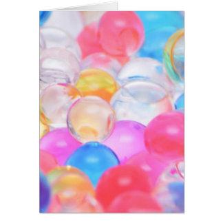 Cartão bolas transparentes