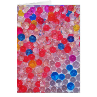 Cartão bolas transparentes da água