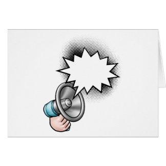 Cartão Bolha do discurso da banda desenhada do megafone