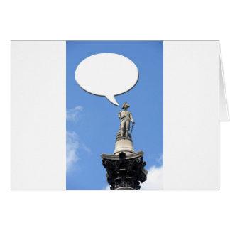 Cartão Bolha do discurso da coluna de Nelson com espaço