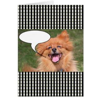 Cartão Bolha engraçada do discurso do cão